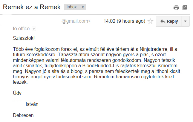 ©2014 Remek! Trading Systems.