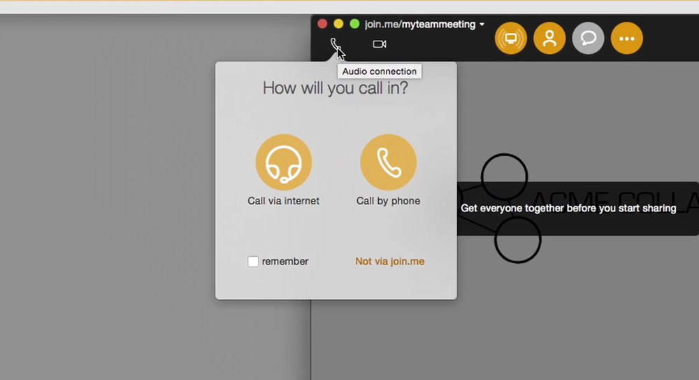 Using audio in join.me