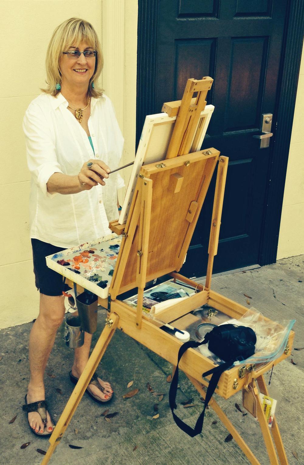 Painting in downtown Savannah