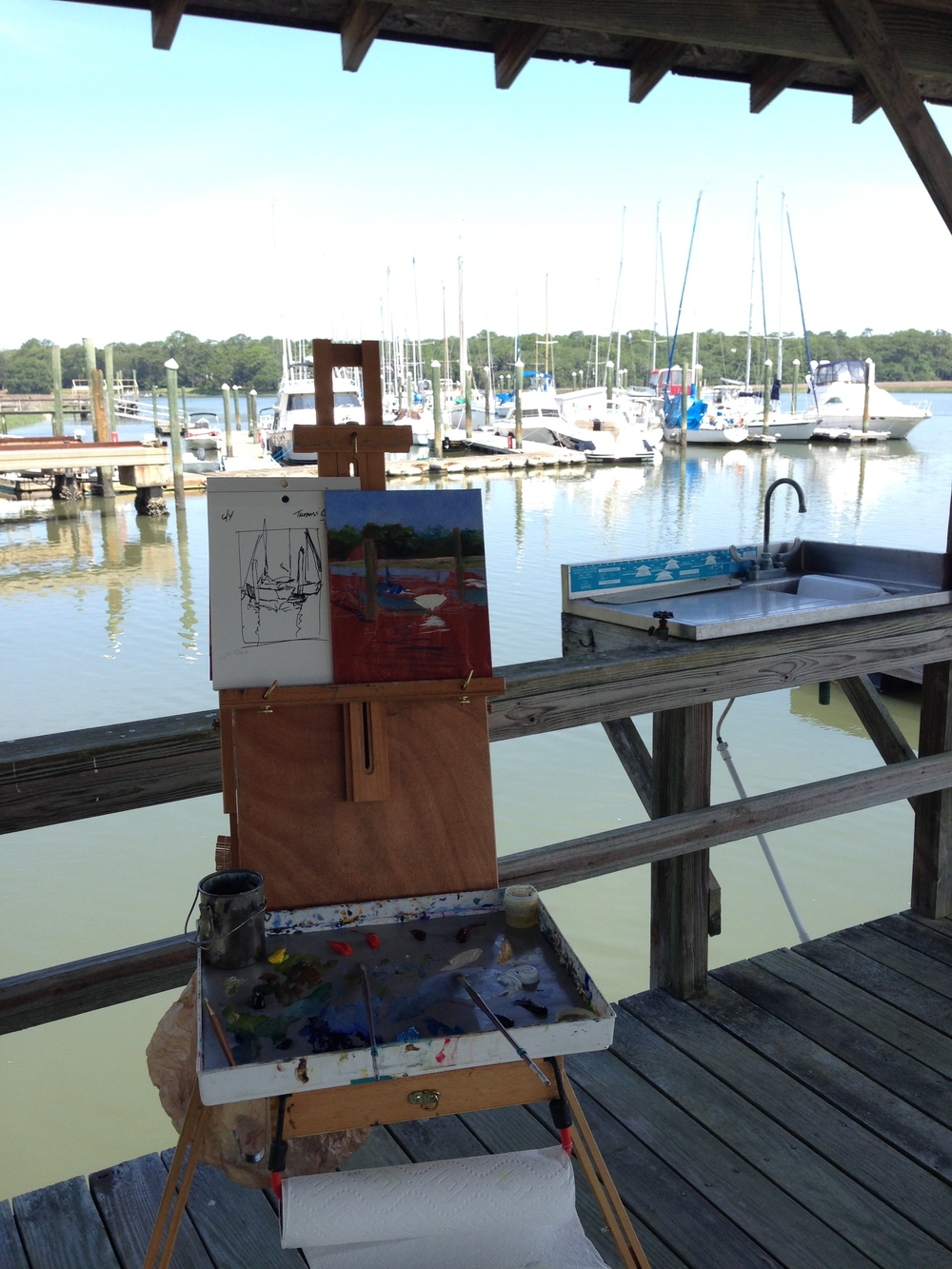 Painting on Turner's Creek.