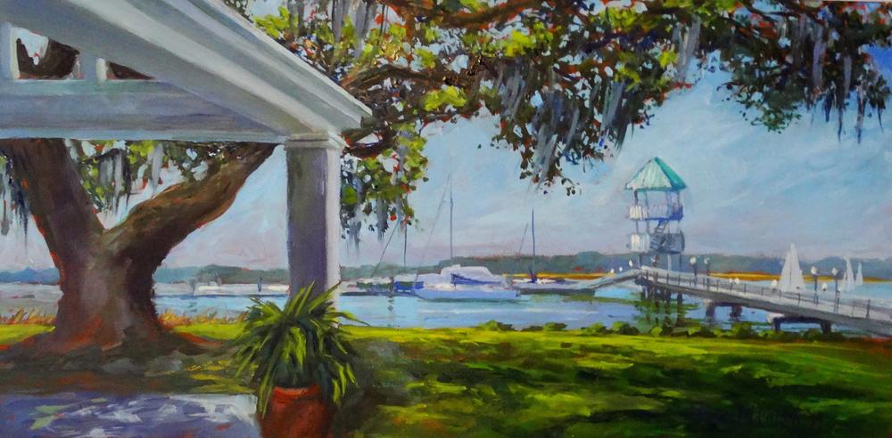 """Savannah Yacht Club view 8"""" x 16"""""""