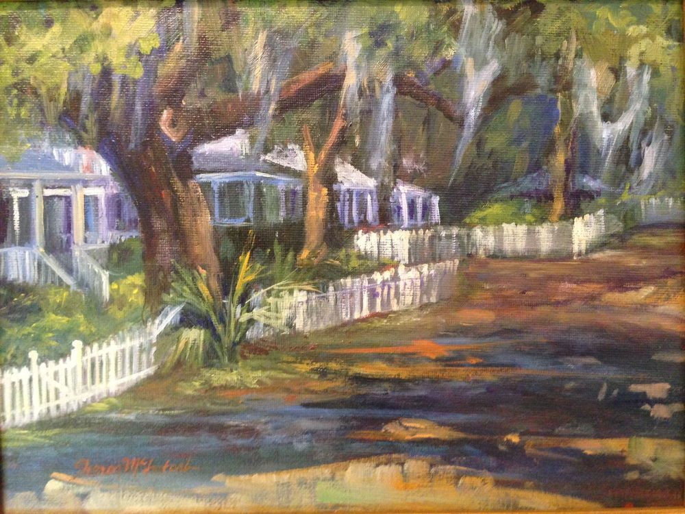 This painting was done at Isle of Hope on Bluff Drive. You can see something lovely to paint like this in any direction you turn.
