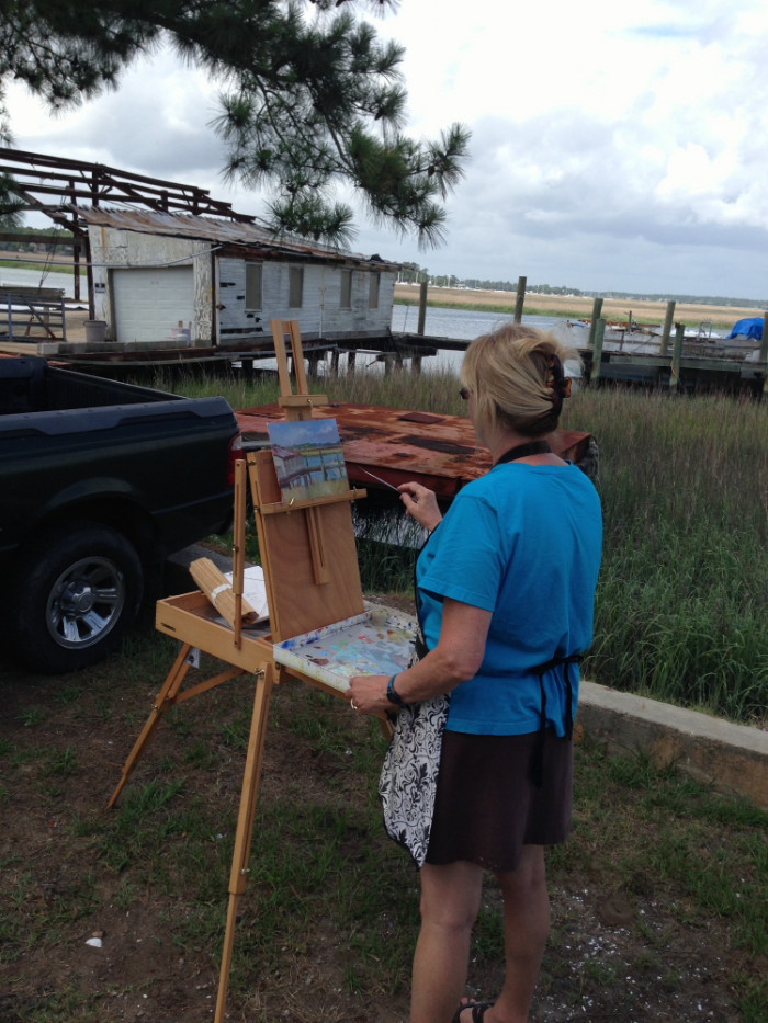 One of Wilmington Island's great painting spots - Sasser's Docks