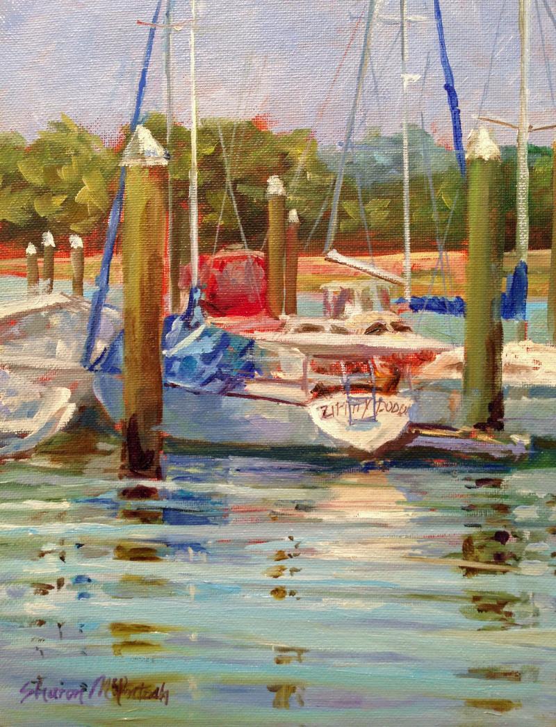 """Zippidy Doo Da"" painted at Sail Harbor Marina - before the moved the docks."