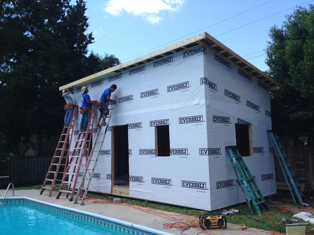 Day 2 - The Roof, Moisture Barrier and Siding