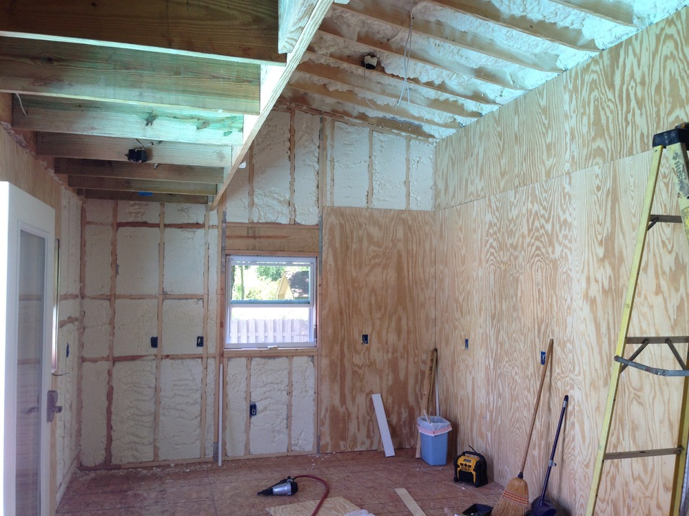 Installing the plywood interior