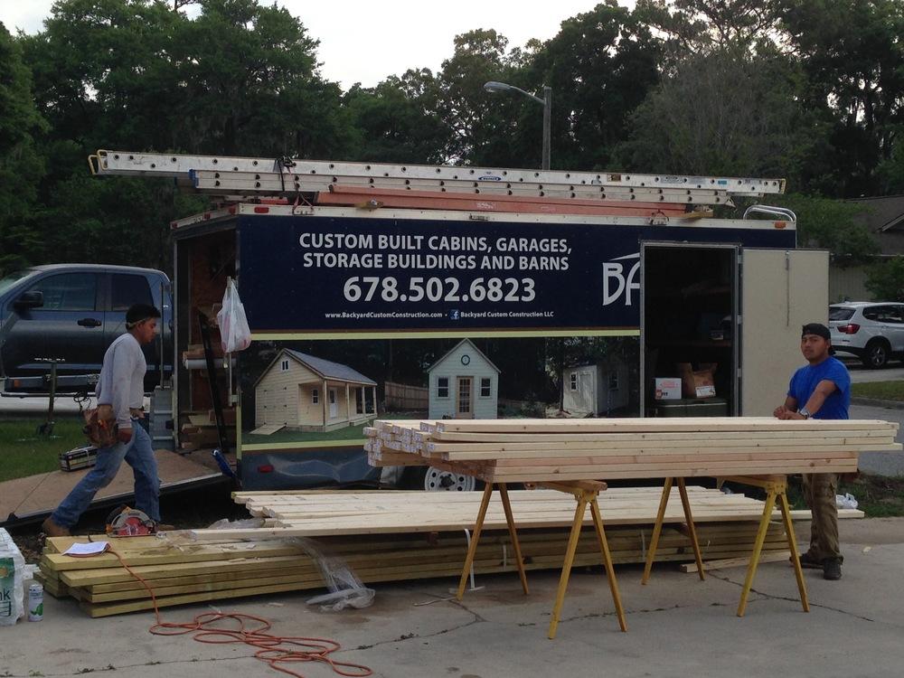 Backyard Custom Construction from Atlanta built the exterior in 2 1/2 days