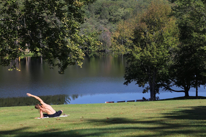 A 'Supporter' enjoying the Retreat
