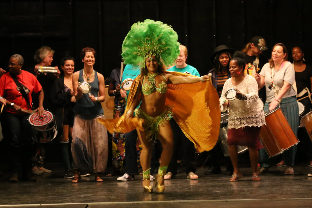 Afro-Brazilian drum and dance at the Saturday Performance featuring quenia ribeiro