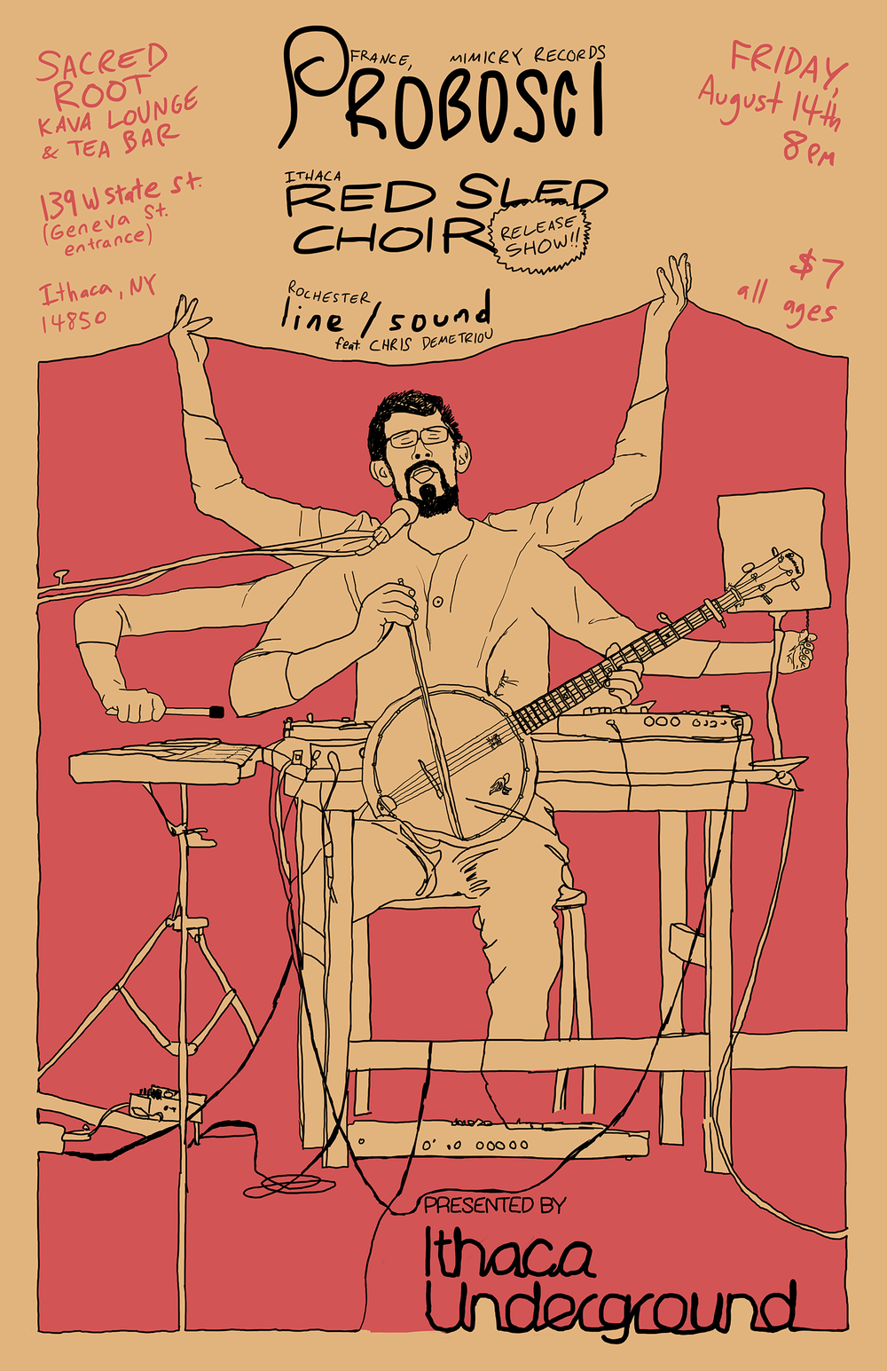 Poster for Ithaca Underground. 2015.