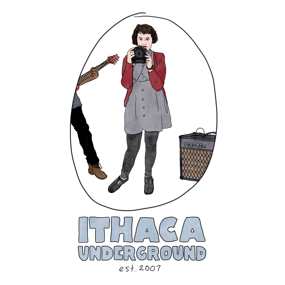Digital release album art for  Ithaca Underground: Vol. 3  compilation / t-shirt design for Ithaca Underground. 2017.