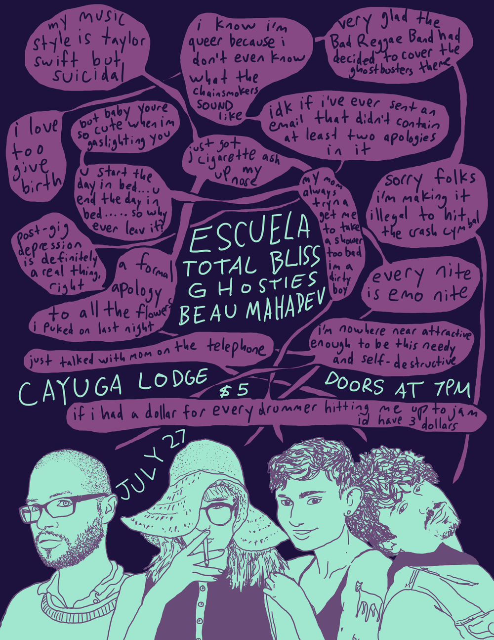 Poster for Cayuga Lodge. 2017.