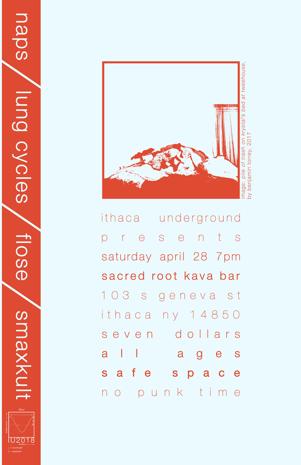 Poster for Ithaca Underground. 2018.