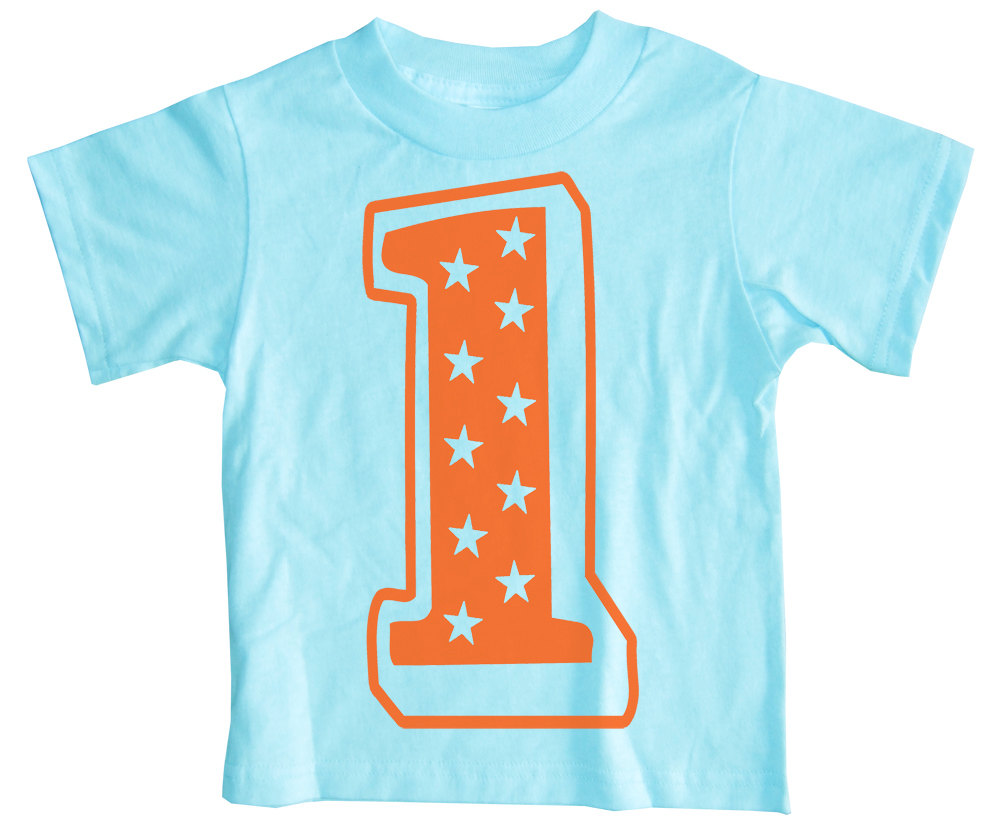 Superstar First Birthday T Shirt Aqua Happy Family Clothing