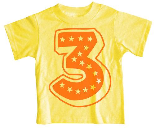 Superstar Third Birthday T Shirt Yellow