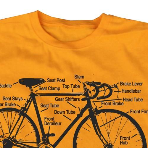 Bike Diagram T Shirt Happy Family Clothing