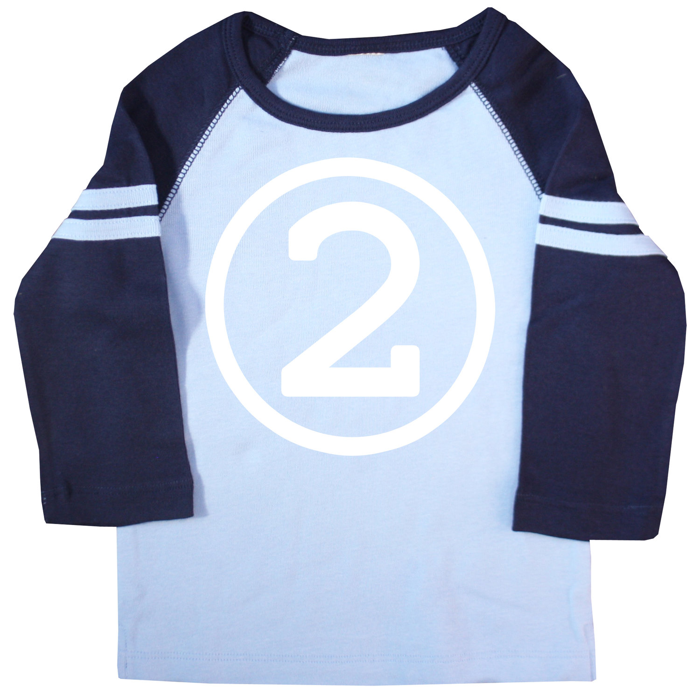 Second Birthday Navy Raglan T Shirt Happy Family Clothing