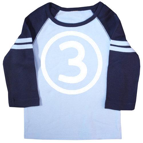 Third Birthday Navy Raglan T Shirt