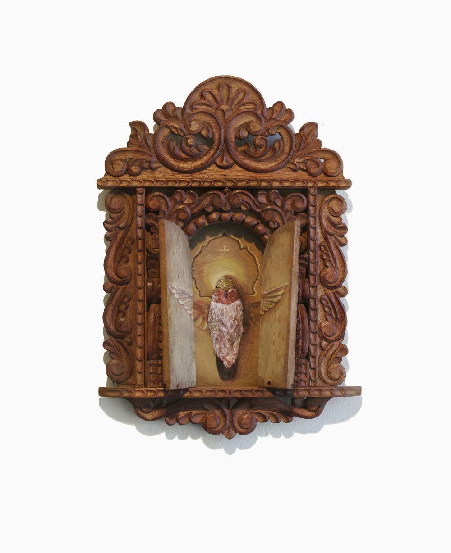 Acrylic on wood, 8''x13''