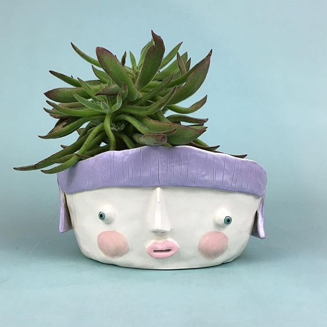 Oh Tammy 3... Youre drunk, go home. Though, You are real hoot with that plant on your head. #tammy1 #tammy2 #tammy3 #handmade #renegade #clay #ceramics #bowlfriends #justinbieber