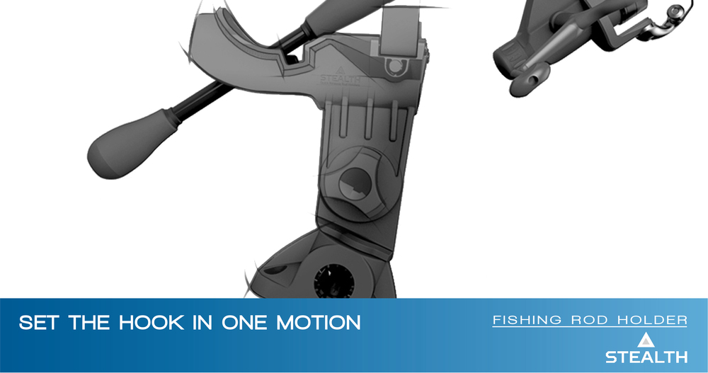 Stealth Rod Holder Sketch - Launch Innovation