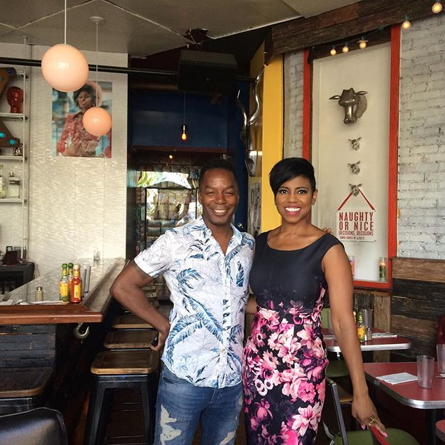 Great shoot with the lovely Jacque Reid from @newyorklivetv for @harlemeatup coming on May 21-22 where Chef Owner Brian Washington-Palmer participates in The Stroll #harlem #tacos #burritos