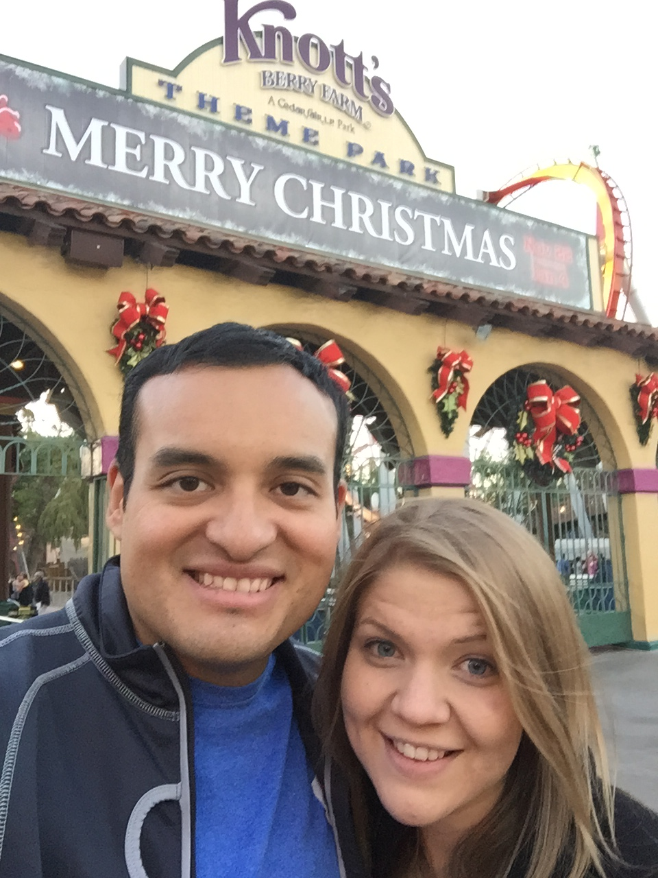 First time at Knott's Berry Farm for Wendy and I