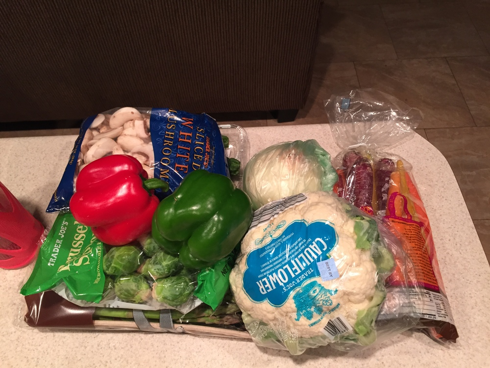 I never use to eat this many veggies.