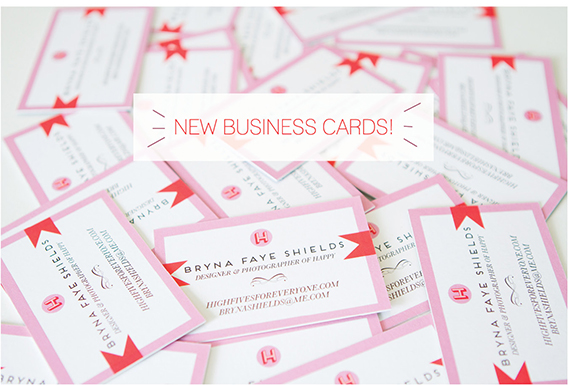 highfivesforeveryone business cards