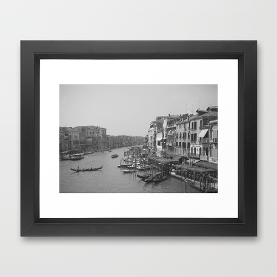 highfivesforeveryone society6 shop waking up in venice framed print