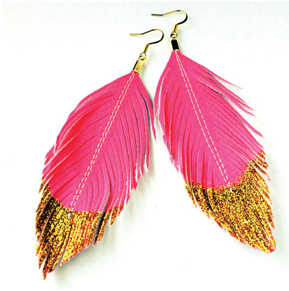 love sexton pink and gold earrings