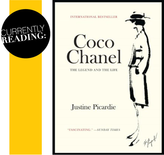 reading coco chanel book