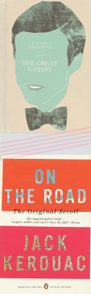 great gatsby on the road book covers