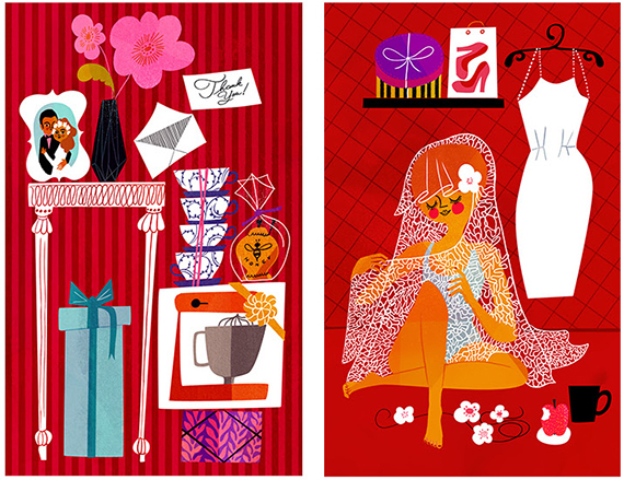 sanna mander illustrations red
