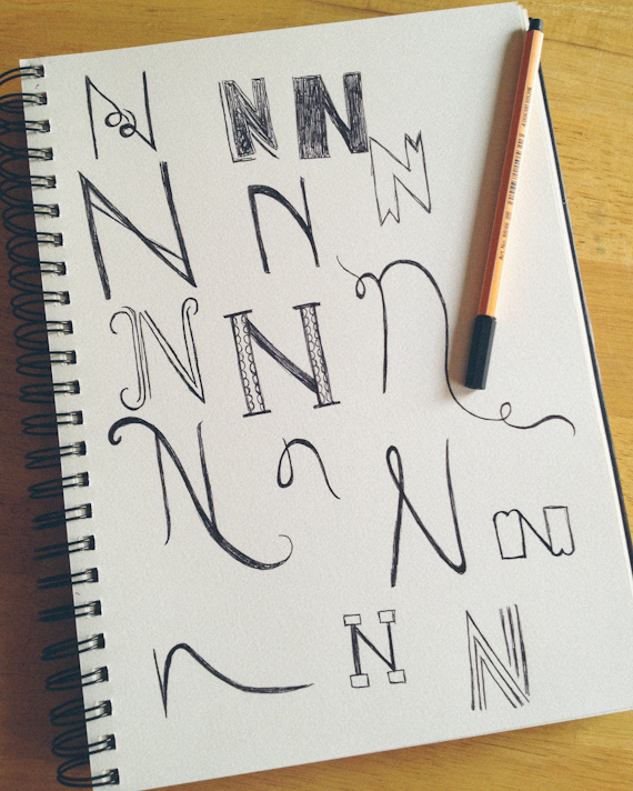Lettering Sketches by Bryna Faye Shields