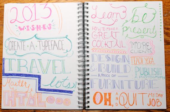 2013 wishes sketch by Bryna Faye Shields