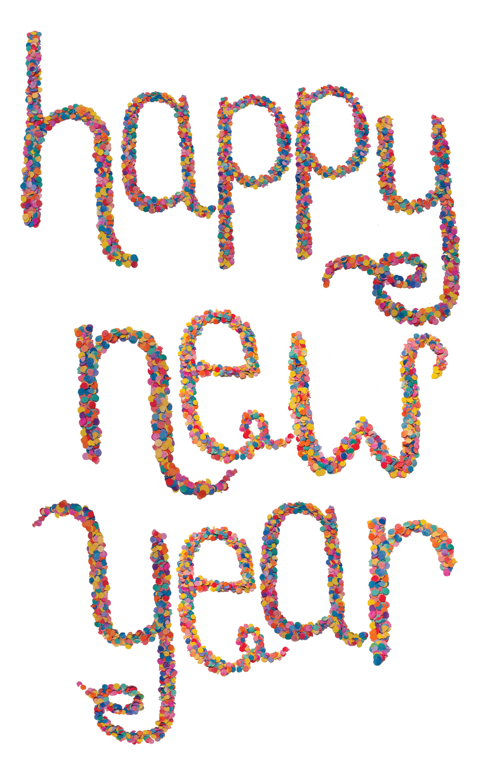 Happy New Year Type by Bryna Shields