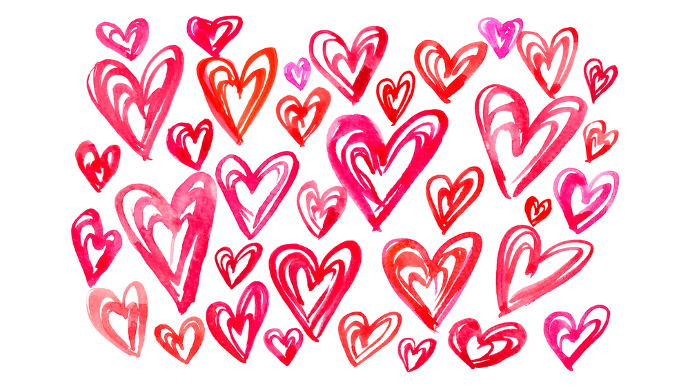 Valentine Hearts Desktop Background | High Fives for Everyone