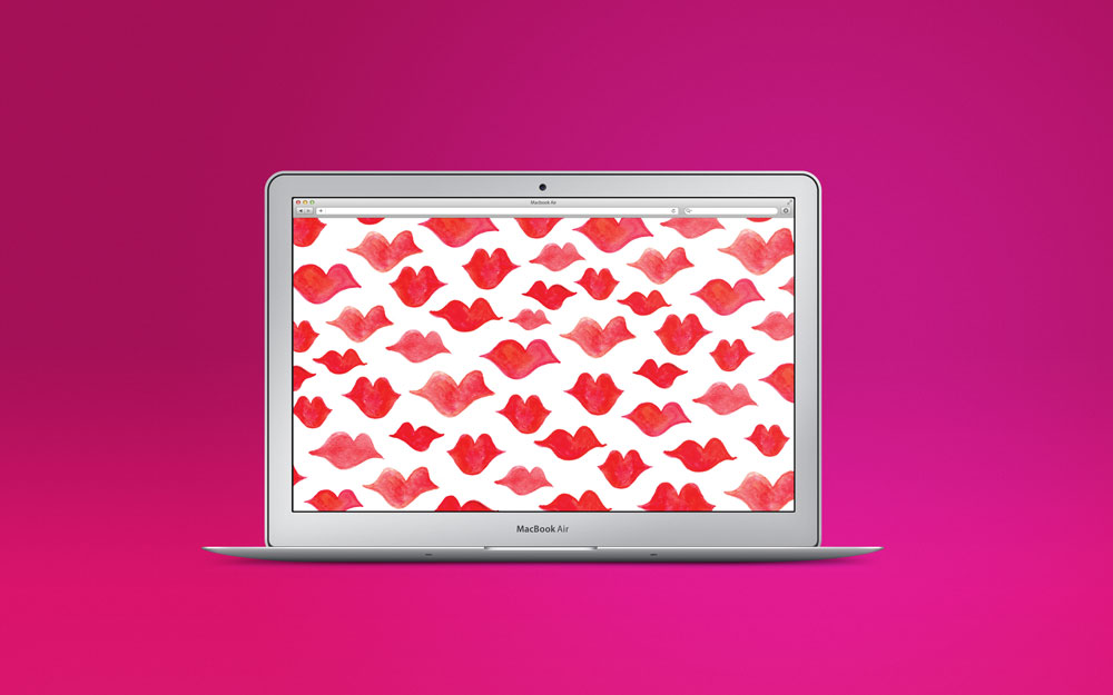 Kissy Lips Desktop Download by Bryna Shields