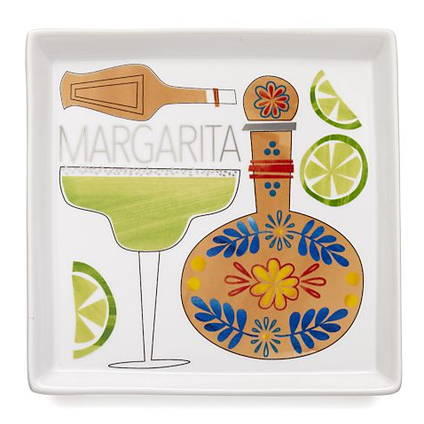 Margarita Cocktail Recipe Plate for Crate & Barrel
