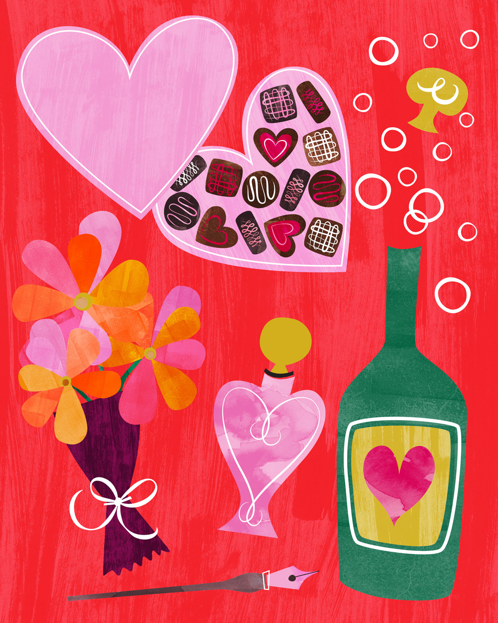 Valentine's Day Illustration by Bryna Shields