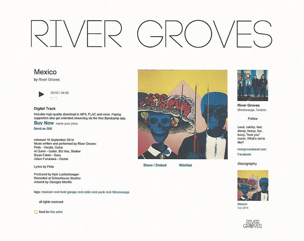 """Mexican Gothic"" used as Cover Art for River Groves' single ""Mexico"""