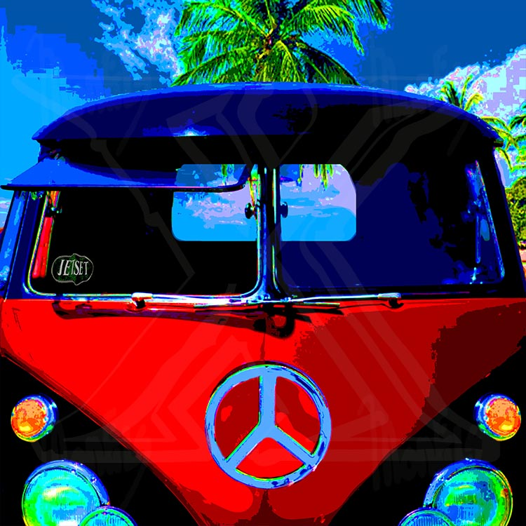 """Peace Van"" Design out of the ""JETSET"" series"