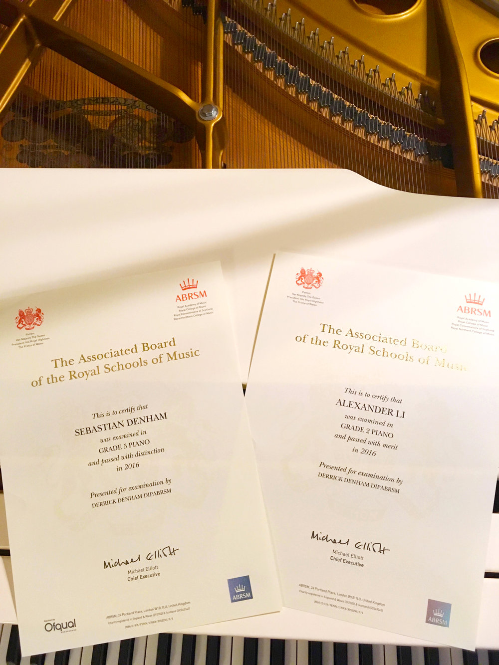 Students received distinction and Merit in ABRSM Piano Exam