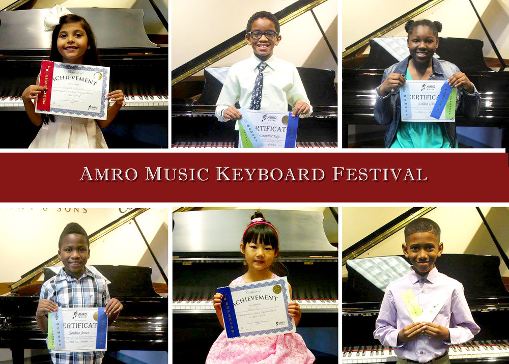 student performance at amro music keyboard festival