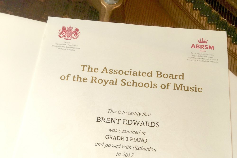 students received distinction in abrsm piano exam
