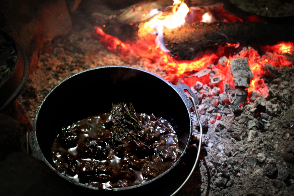 Camp Fire Beef Bourguignon