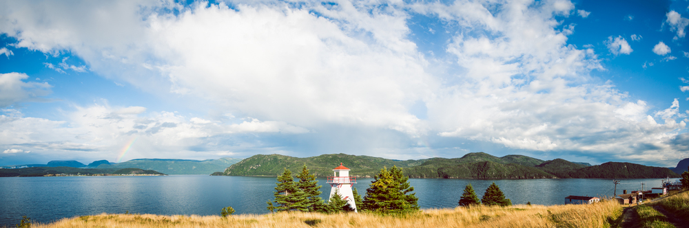 Woody Point Lighthouse, panorama