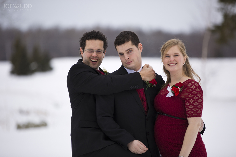 Wedding Winter Ottawa Siblings