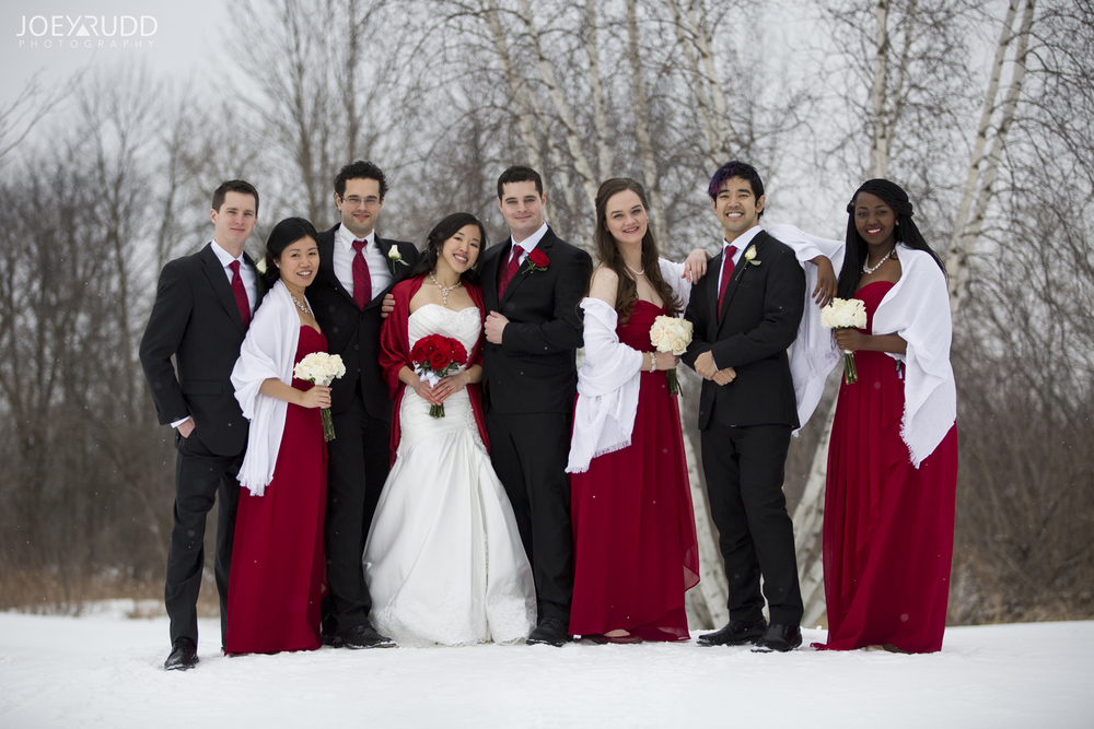 Wedding Party Ottawa Wedding Winter
